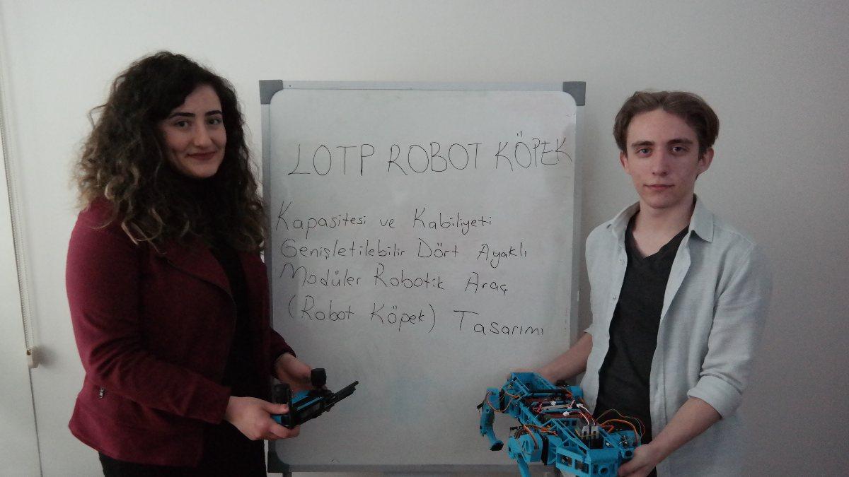 Eskişehir'de geliştirdiği robot köpekle TÜBİTAK yarışmasında bölge birincisi oldu