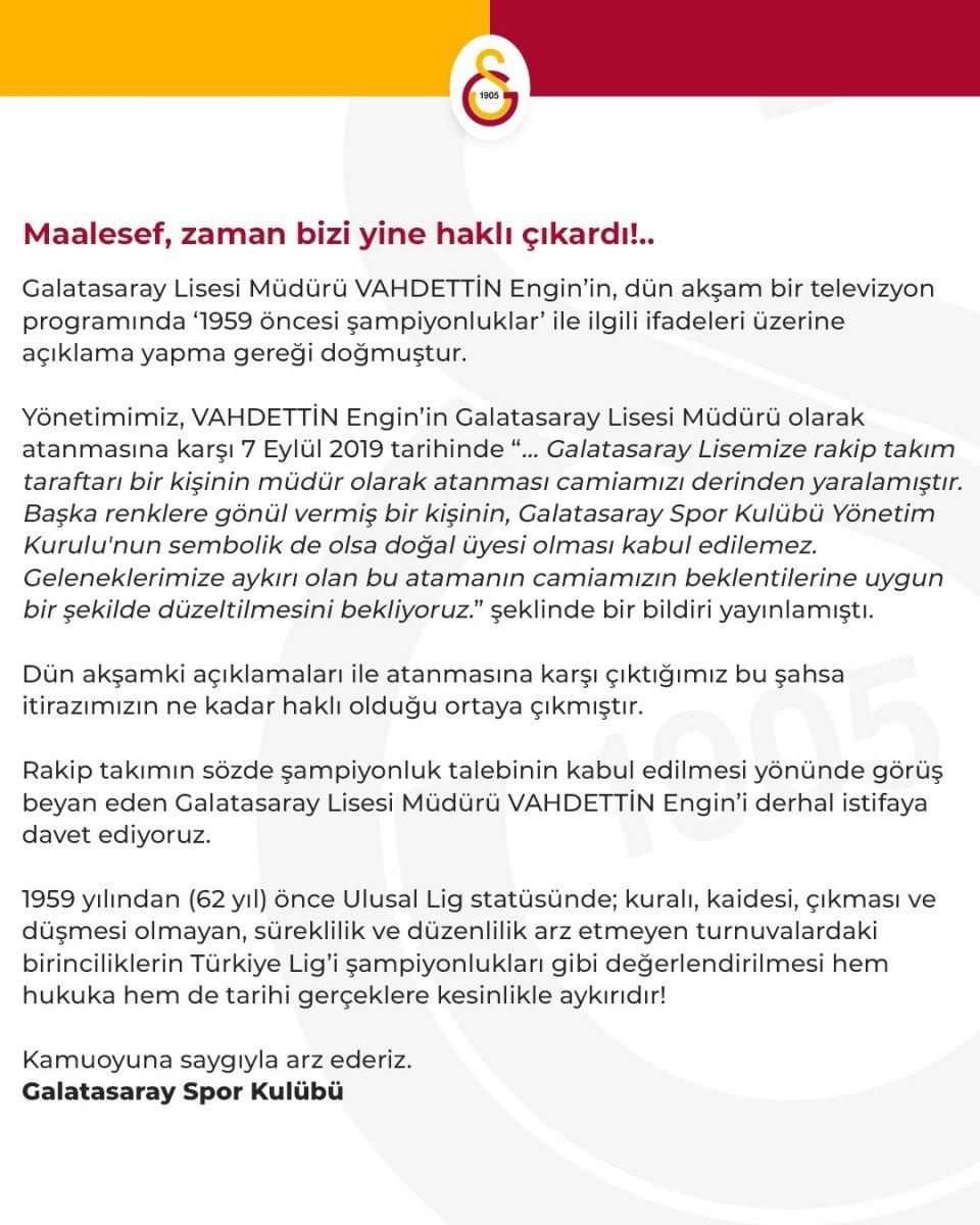 Galatasaray, Vahdettin Engin i istifaya çağırdı #2