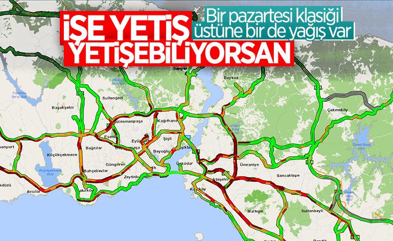 İstanbul'da yağmur etkili oluyor: Trafik erken başladı