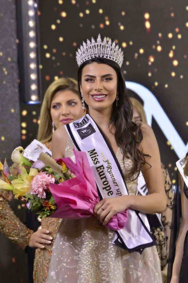 Lübnan da düzenlenen Miss Europe 2021'de Türk model 3'üncü oldu #3