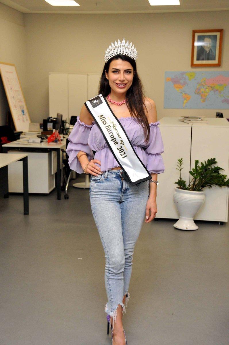 Lübnan da düzenlenen Miss Europe 2021'de Türk model 3'üncü oldu #1