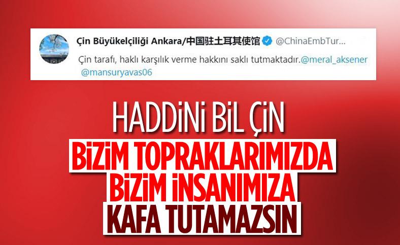 Çin'in Ankara Büyükelçisi, Dışişleri Bakanlığı'na çağrıldı