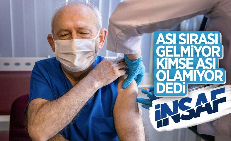 Kemal Kılıçdaroğlu: Kimse aşı olamıyor