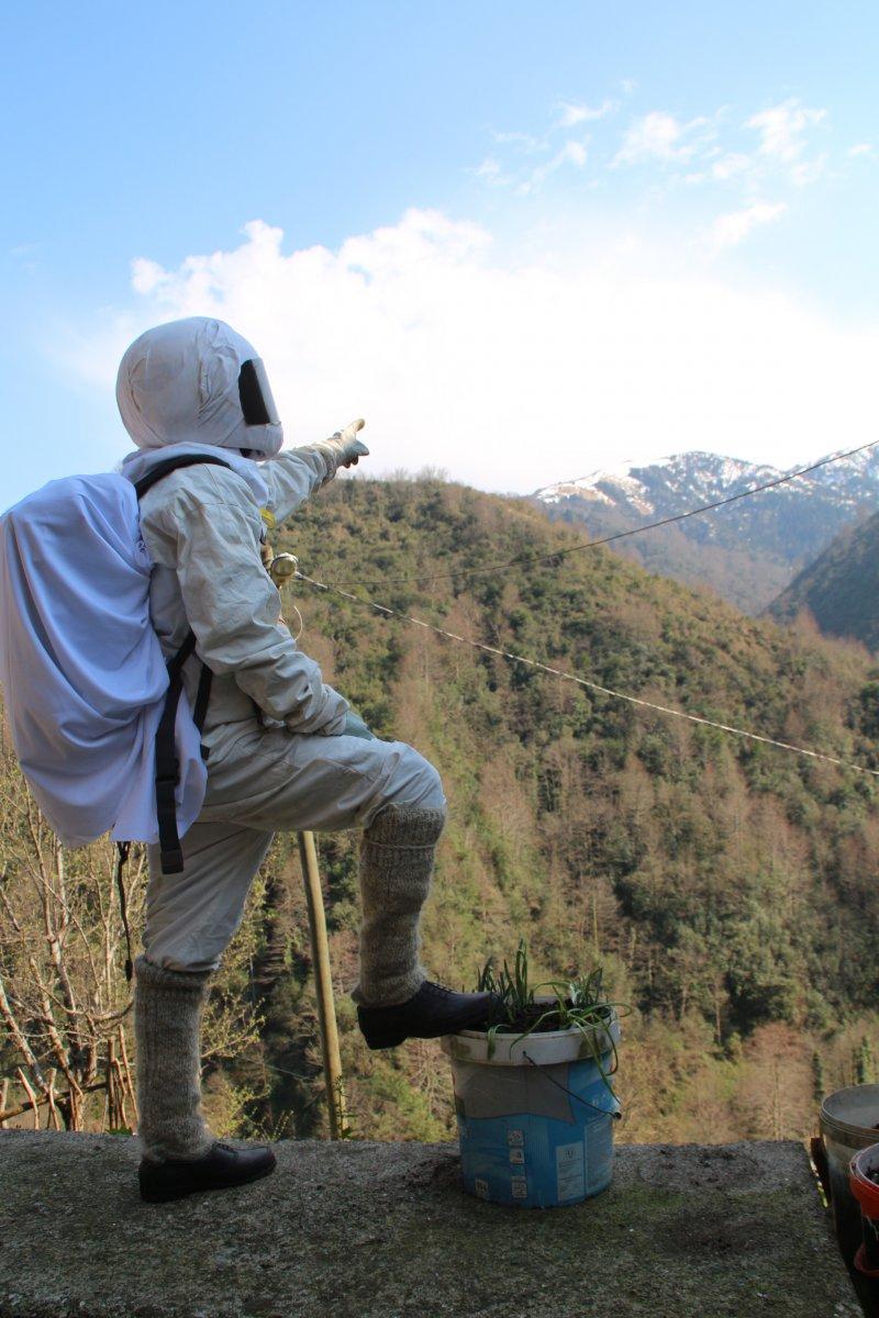 Rize'de 4 genç, kendilerini astronota benzeterek kısa videolar çekiyor #2