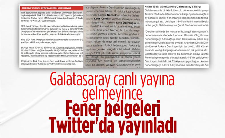 Fenerbahçe'den Galatasaray'a 3 belgeli yanıt