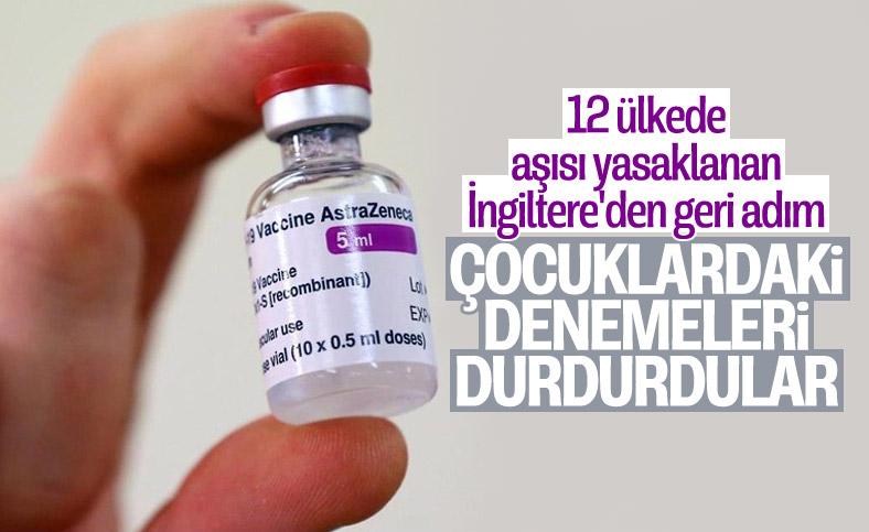 İngiltere'de AstraZeneca aşısının çocuklardaki denemeleri durduruldu