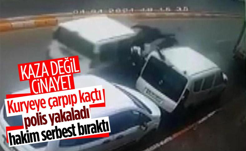 İstanbul'da kuryeye çarpıp ölümüne neden olan sürücü serbest bırakıldı