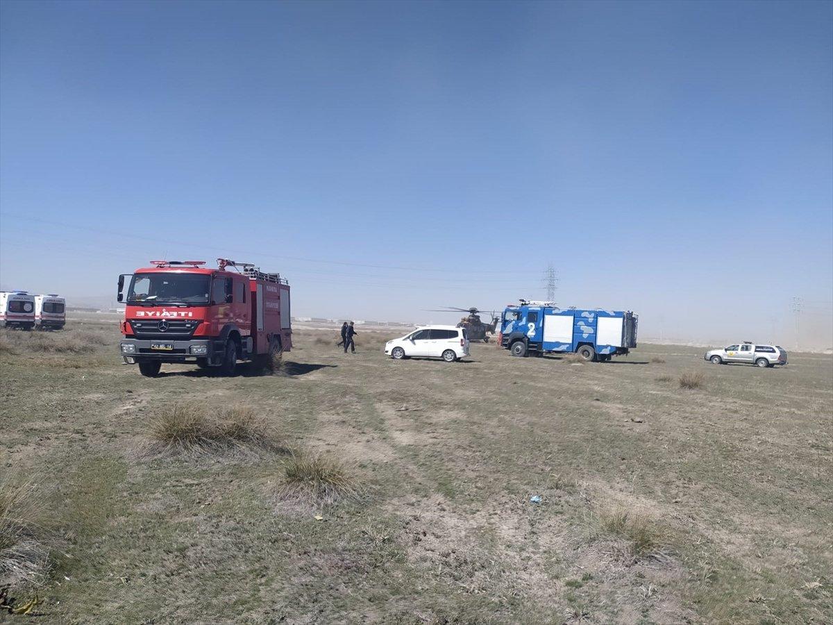 Konya da askeri uçak düştü #4