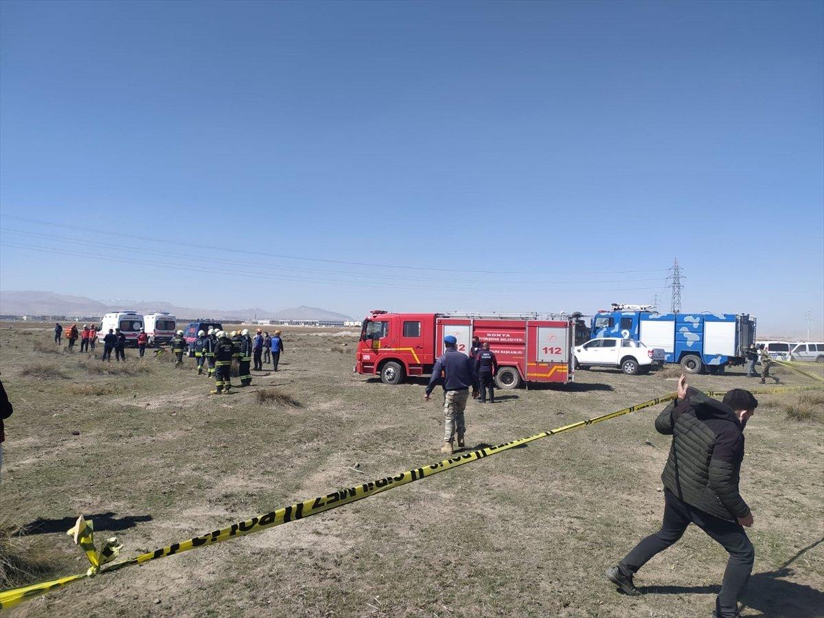 Konya da askeri uçak düştü #7
