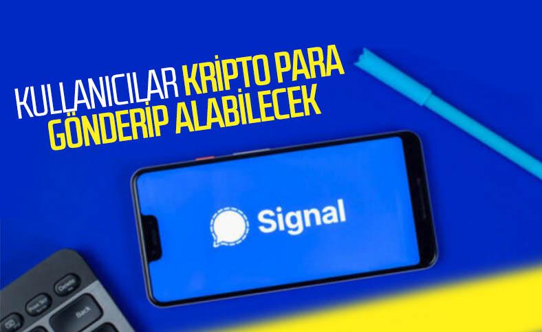 Signal kullanıcıları, birbirlerine kripto para gönderebilecek