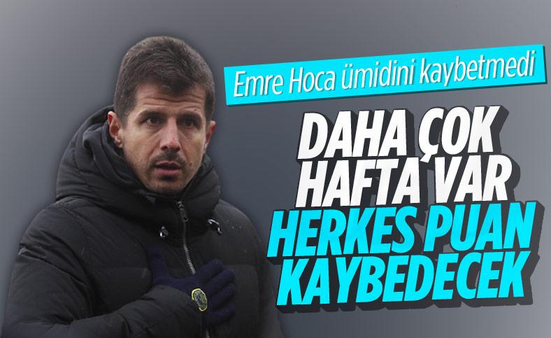 Emre Belözoğlu: Herkes puan kaybedecek