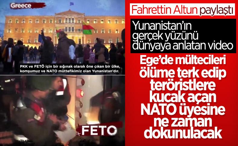 İletişim Başkanı Altun'dan, Yunanistan'ın terör örgütlerine desteklerini anlatan video