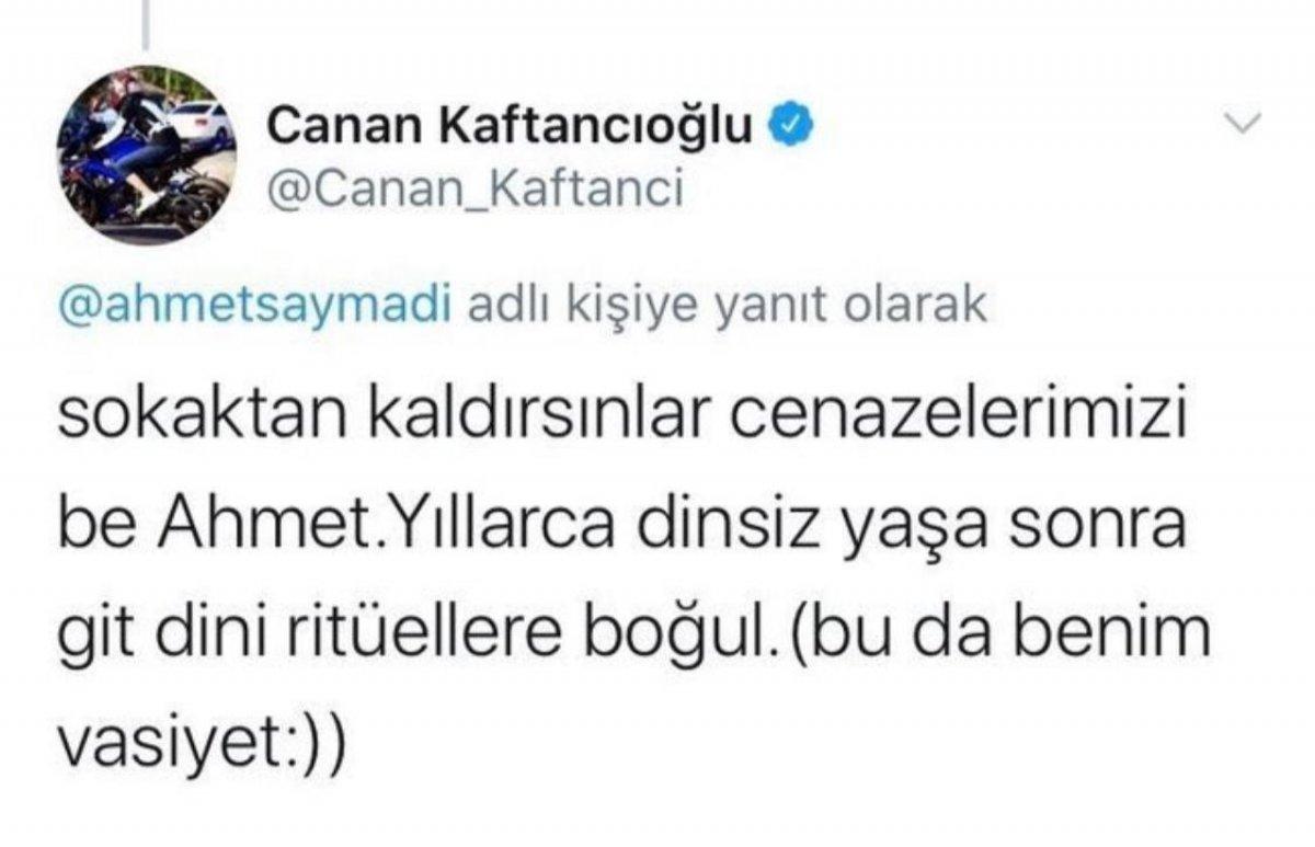 Canan Kaftancıoğlu nun cenaze vasiyeti #1