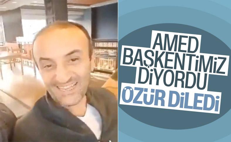 Ersin Korkut, 'Amed başkentimiz' sözleri nedeniyle özür diledi