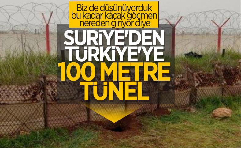 Suriye'den kazılmış 100 metre uzunluğunda tünel tespit edildi