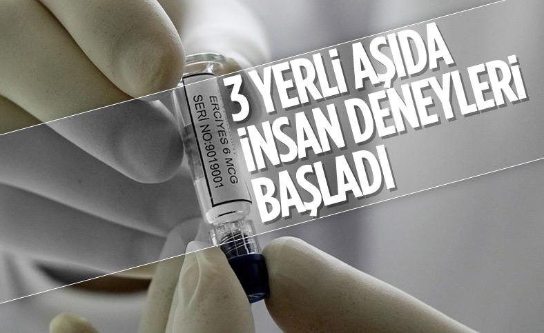 Yerli 3 aşının insan uygulamalarına başlandı