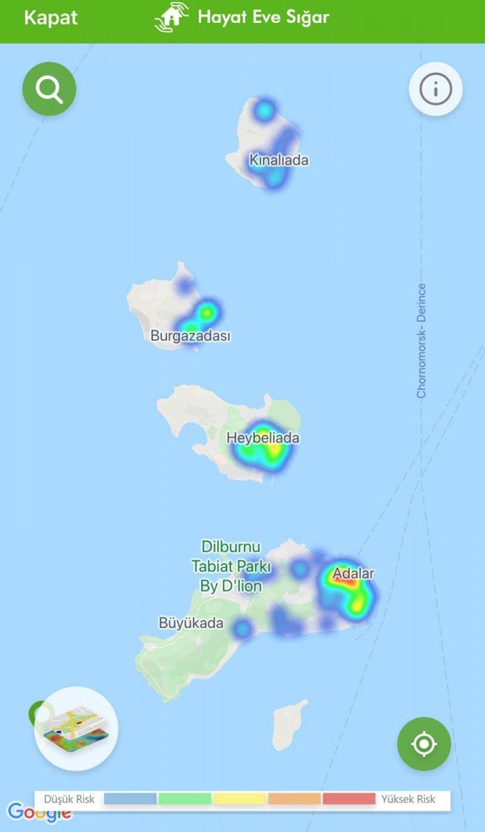İstanbul koronavirüs risk haritasında ilçelerin son durumu #1
