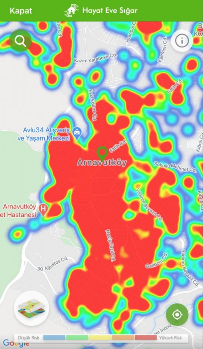 İstanbul koronavirüs risk haritasında ilçelerin son durumu #2