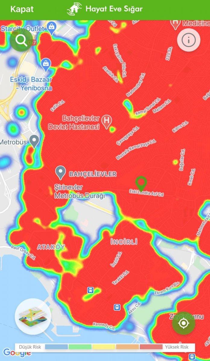 İstanbul koronavirüs risk haritasında ilçelerin son durumu #6