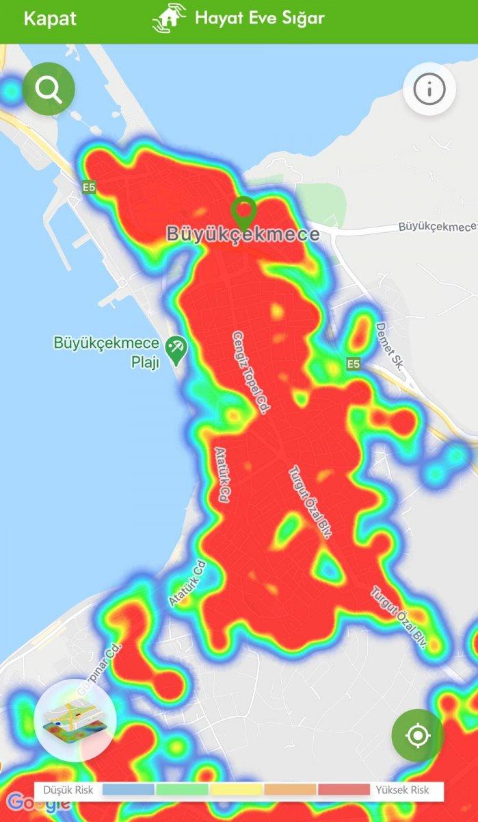 İstanbul koronavirüs risk haritasında ilçelerin son durumu #14