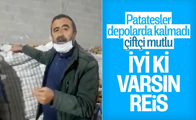 Cumhurbaşkanı Erdoğan'ın müjdesi, soğan ve patates üreticilerini sevindirdi
