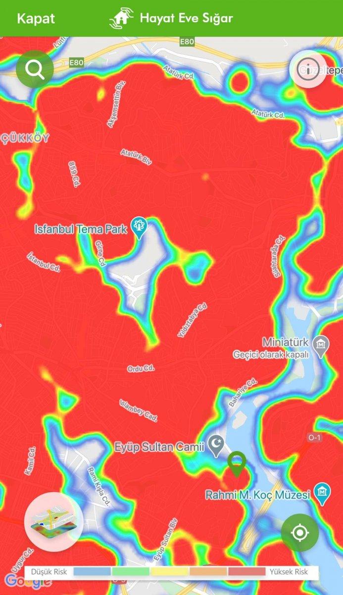 İstanbul koronavirüs risk haritasında ilçelerin son durumu #19