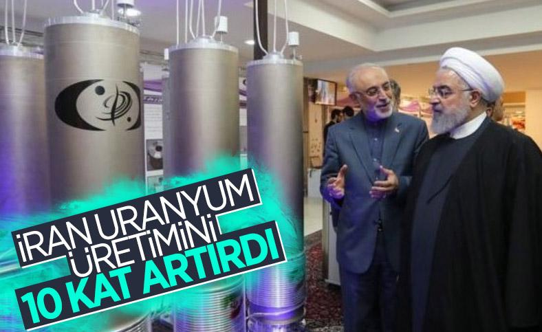 İran uranyum zenginleştirmeyi 10 kat artırdı