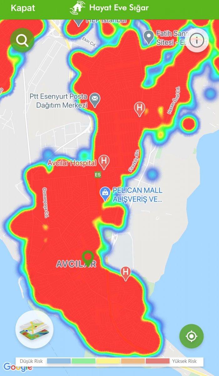 İstanbul koronavirüs risk haritasında ilçelerin son durumu #4