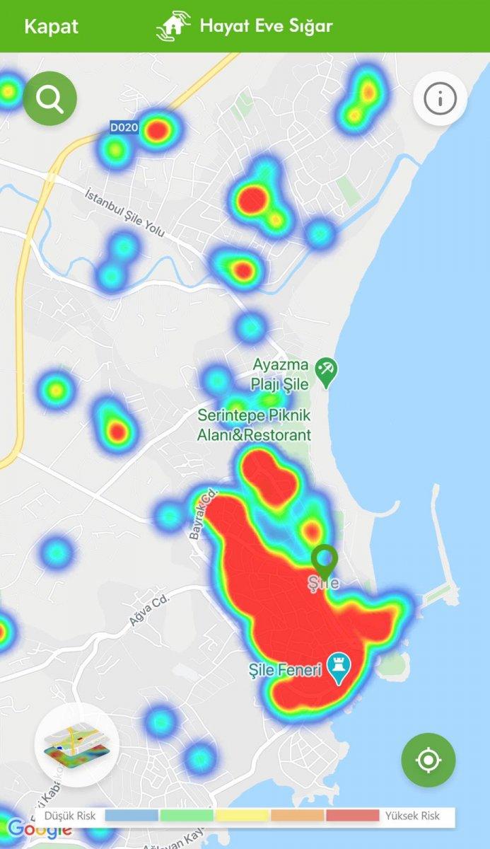 İstanbul koronavirüs risk haritasında ilçelerin son durumu #34