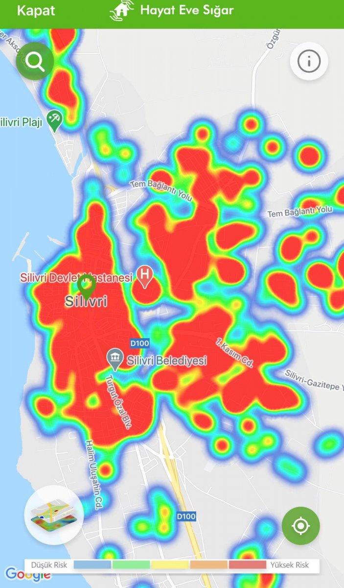 İstanbul koronavirüs risk haritasında ilçelerin son durumu #31