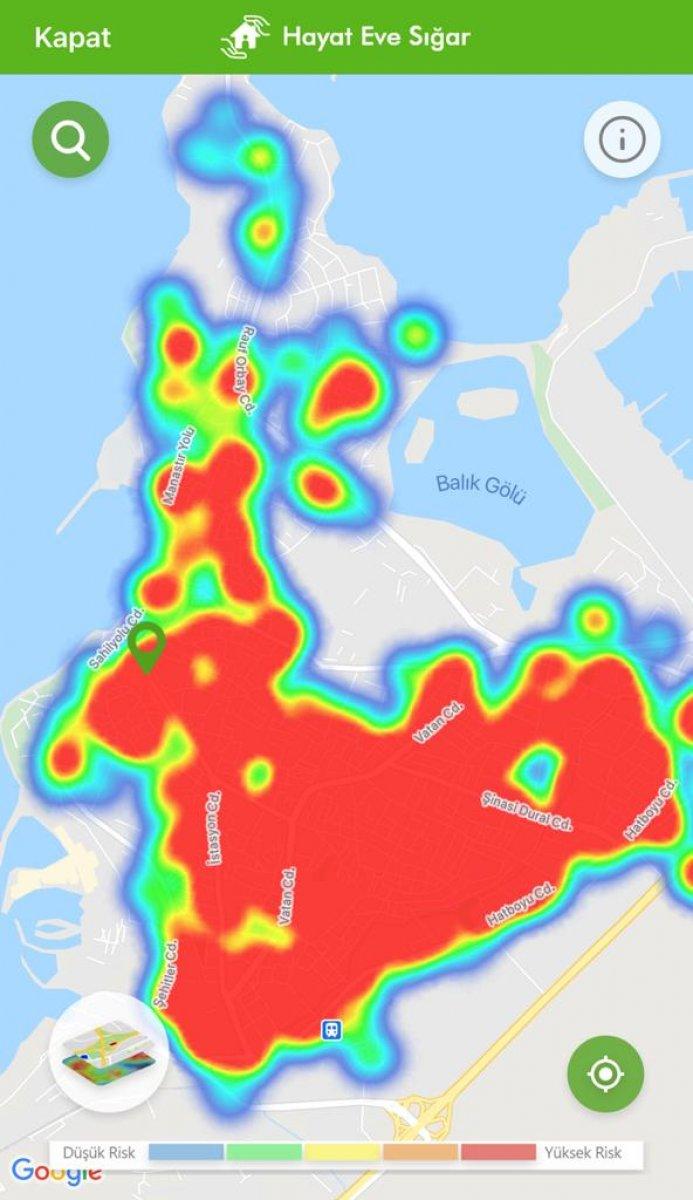 İstanbul koronavirüs risk haritasında ilçelerin son durumu #36