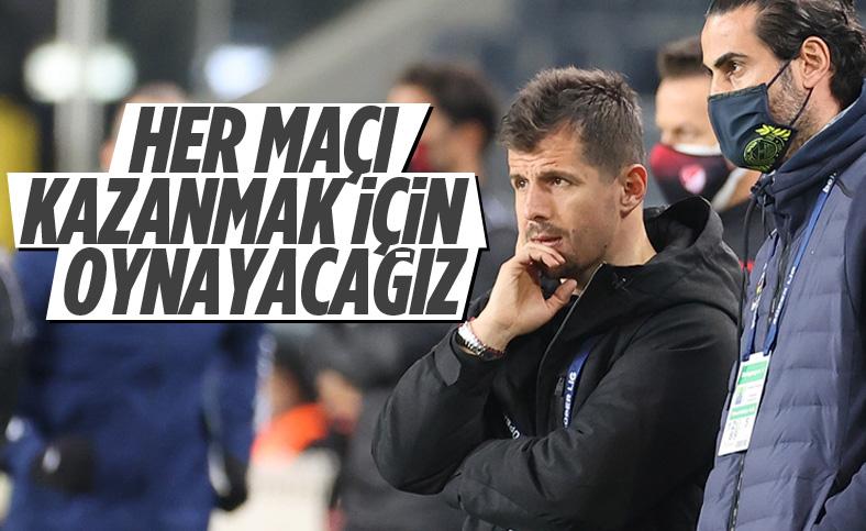 Emre Belözoğlu: Her maçı kazanmak için oynayacağız