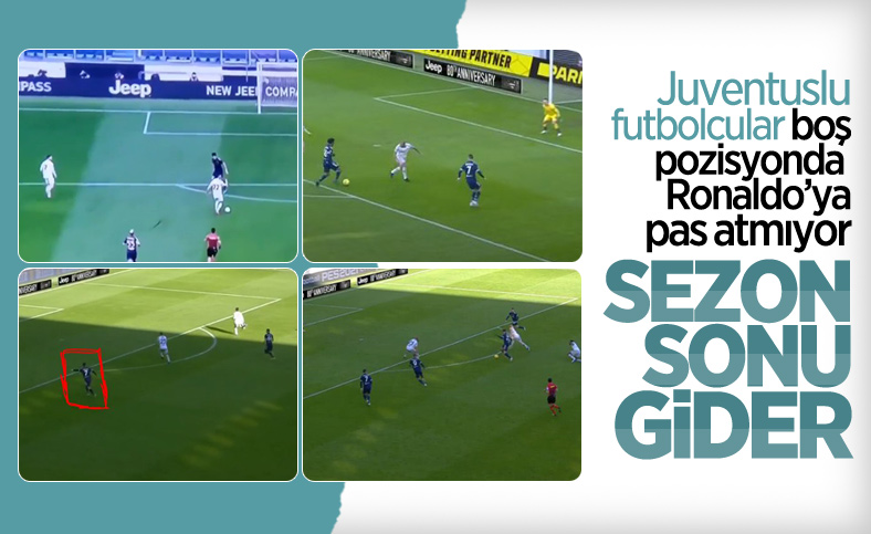 Juventuslu futbolcular Ronaldo'ya pas atmadı