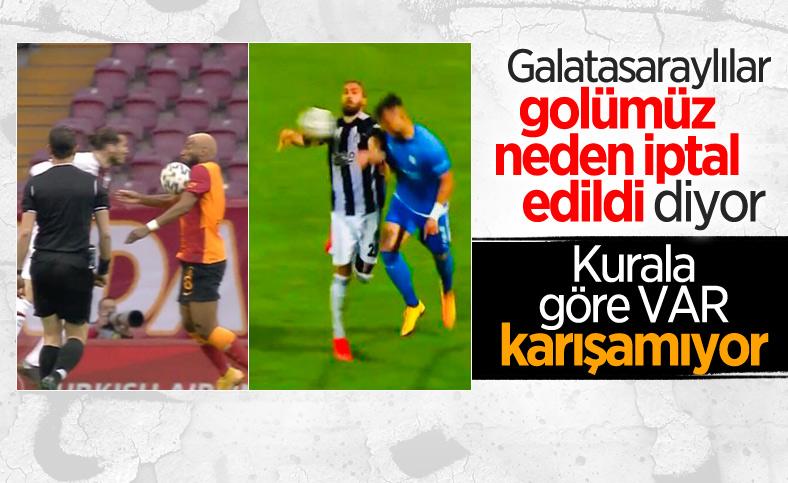 Galatasaraylılardan Ghezzal'ın golü öncesi el itirazı