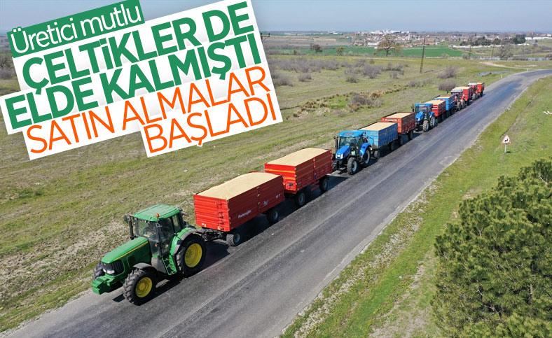 Edirne'de üreticiler çeltikleri TMO'ya getirmeye başladı