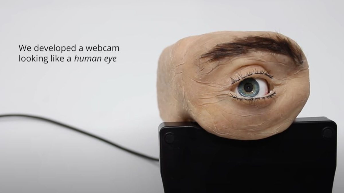 İnsan gözü şeklinde web kamerası: Eyecam