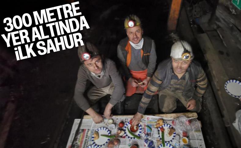 Zonguldaklı madencilerin yer altında ilk sahuru