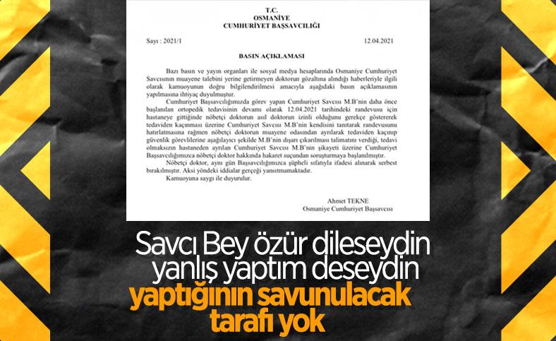 Osmaniye'de savcı - doktor gerilimi