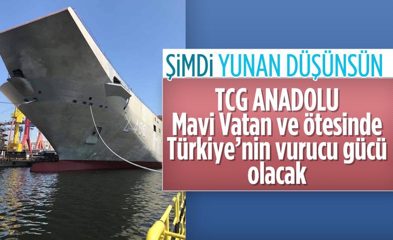 Türkiye'nin denizdeki vurucu gücü olacak TCG Anadolu gün sayıyor