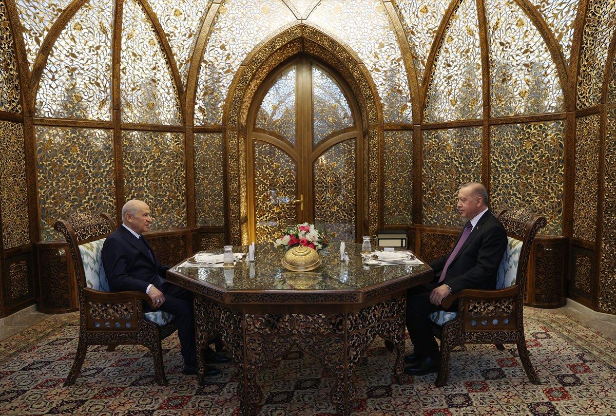 Cumhurbaşkanı Erdoğan ile Devlet Bahçeli iftarda buluştu #1