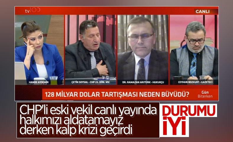 CHP'li eski vekil Çetin Soysal canlı yayında kriz geçirdi