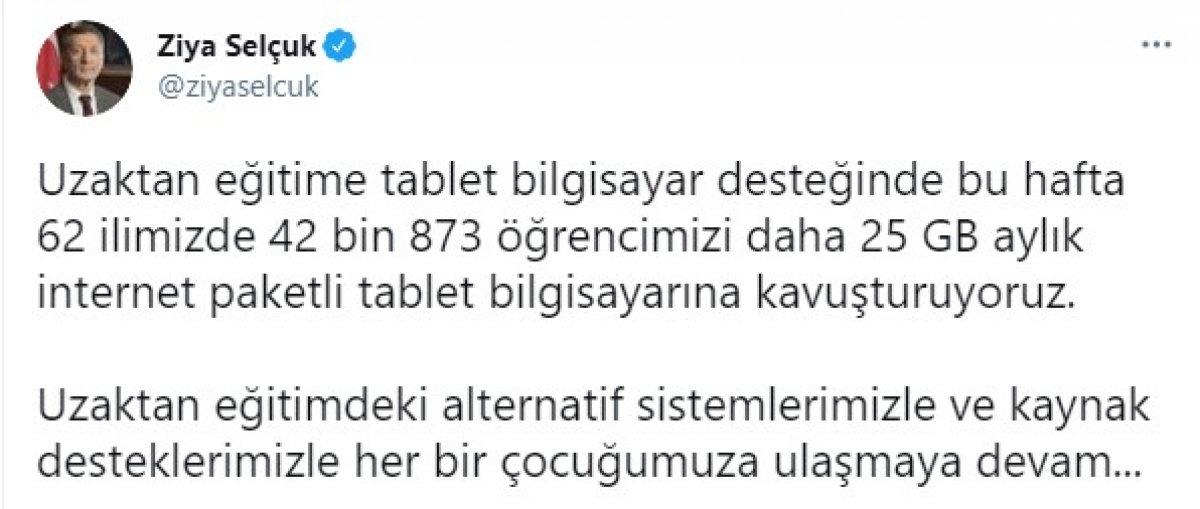 Ziya Selçuk: 42 bin 873 öğrencimizi bu hafta tabletine kavuşturuyoruz #1