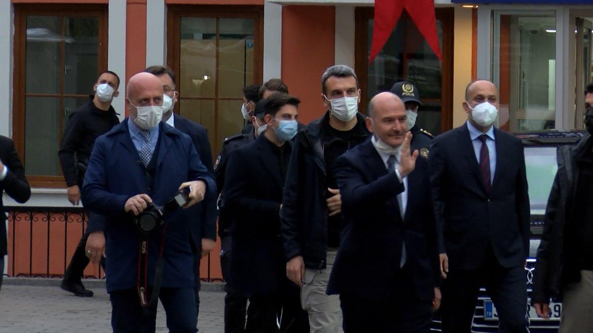 Cumhurbaşkanı Erdoğan ve Süleyman Soylu, Çengelköy Polis Merkezi nde iftar yaptı #7