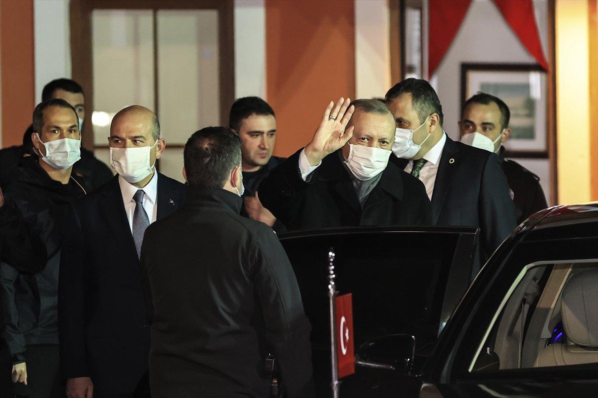 Cumhurbaşkanı Erdoğan ve Süleyman Soylu, Çengelköy Polis Merkezi nde iftar yaptı #5