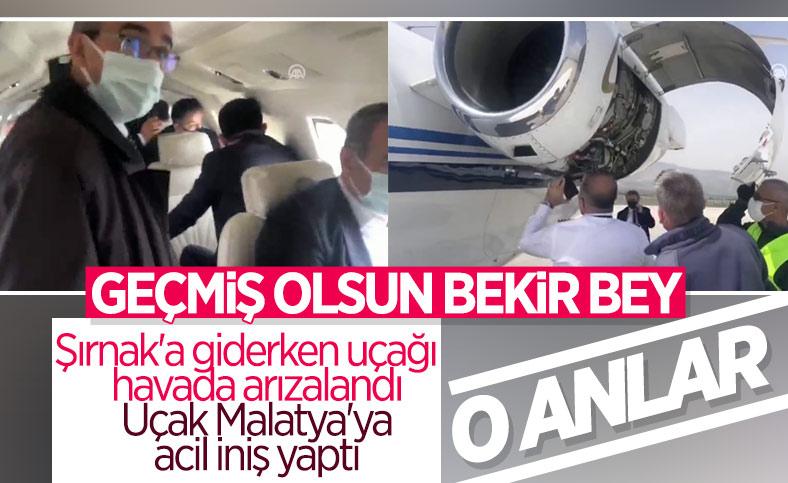 Bakan Bekir Pakdemirli'nin uçağı havada arızalandı