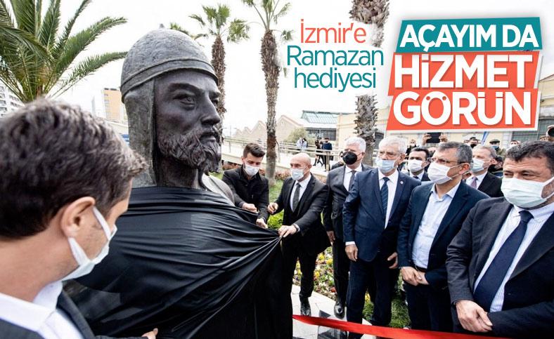 CHP'li İzmir Büyükşehir Belediyesi'nden Çaka Bey heykeli