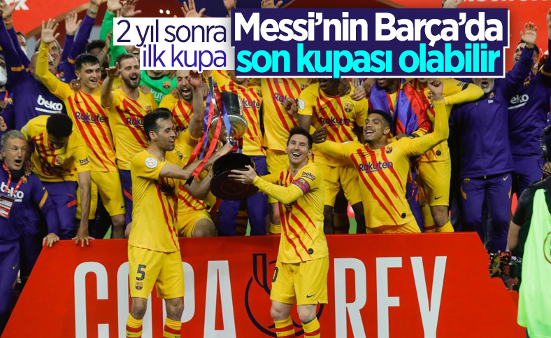 Athletic Bilbao'yu 4-0 yenen Barcelona, İspanya Kral Kupası'nı aldı