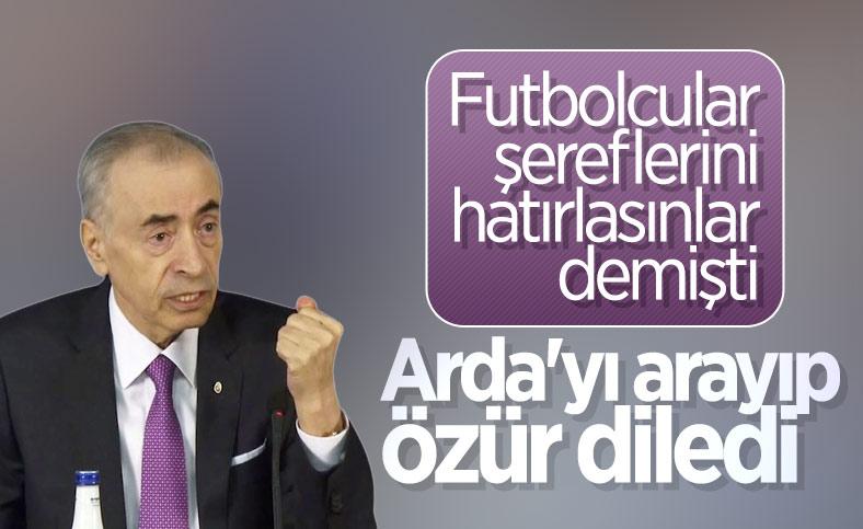 Mustafa Cengiz'den Arda Turan'a özür telefonu