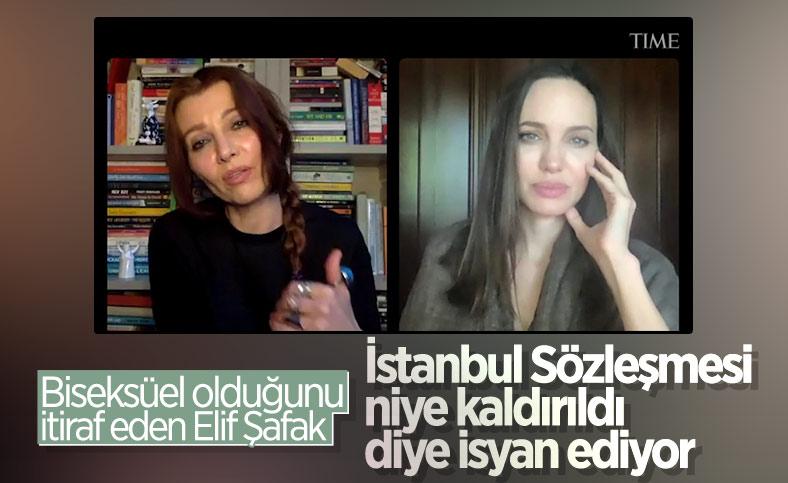 Elif Şafak, Türkiye'nin İstanbul Sözleşmesi'nden ayrılmasını Angelina Jolie'ye şikayet etti