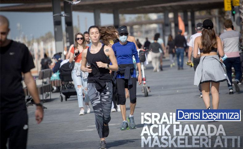 İsrail'de açık havada maske zorunluluğu kaldırıldı